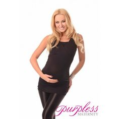 2 IN 1 MATERNITY AND NURSING TOP 7005 BLACK - Maintain your pre-bump style throughout your pregnancy and breastfeeding with fashionable and affordable 2 in 1 maternity and nursing top. This sleveless 2 in 1 top has been designed by Purpless to give you comfort and style during your pregnancy and whilst breastfeeding without spending too much on your pregnancy and post pregnancy wardrobe.
