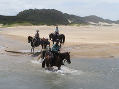 Galloping on endless beaches