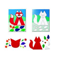 Obrazek filcowy DIY #tigerpolska #tigerstore #Diy #gift #prezent #zrobtosam #diytiger #lis #fox