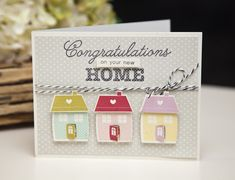 New Home Card by Ashley Cannon Newell for Papertrey Ink (November 2013)