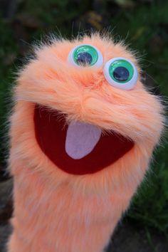 Orange Monster puppet. $12.00, via Etsy.