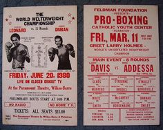 Vintage Boxing Posters