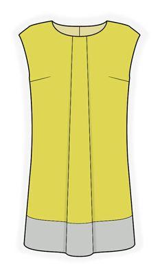 Vestido  - Patrón de costura #4127 Patrón de costura a medida de Lekala con descarga online gratuita.