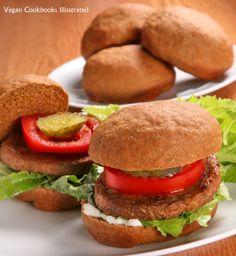 Vegan Whole Grain Burger Buns from the cookbook Whole Grain Vegan Baking