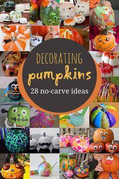 No-Carve Pumpkin Decorating for Kids to Get Creative & No Carve Pumpkin Idea for Kids: Decorate Mini Pumpkins with ...