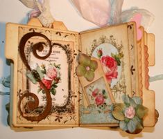Shabby Beautiful Scrapbooking: Shabby Garden fairy Mini File Folder Album (pages by pages)