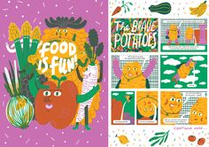 NEW issue is here! Theme is MUSEUMS & it is available to buy from here. http://www.anorakmagazine.com/shop/ Food is Fun by Lauren Humphrey. Studio Anorak.