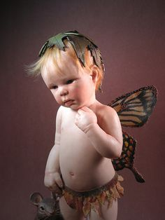 boy fairy with mouse by cynthiamalbon, via Flickr