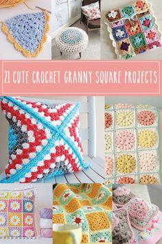21 Cute Crochet Granny Square Projects
