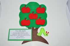 PlayToLearnFeltStories by PlayToLearnWithFelt on Etsy Flannel Board Stories, Felt Board Stories, Felt Stories, Flannel Boards, Felt Board Templates, Crafts To Do, Crafts For Kids, Preschool Apple Activities, Mouse Paint