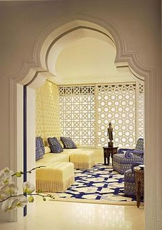 Fretwork pocket door in this living room (not that I would ever do this, but amazing, nonetheless)