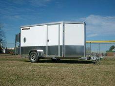 all aluminum enclosed trailer aluma ae610m white sport package