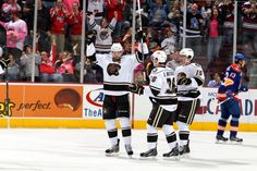 10.27.13 - Hershey Bears Captain, Dane Byers, celebrating a goal.  Photo courtesy of JustSports Photography