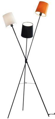 Lampadaire Dexter Noir, blanc, orange - Frandsen - Décoration et mobilier design avec Made in Design