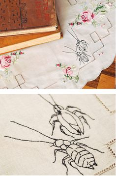 Free bug embroidery pattern download