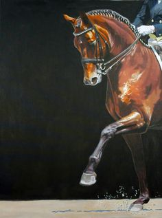 Step - Horse painting by Jan Lukens