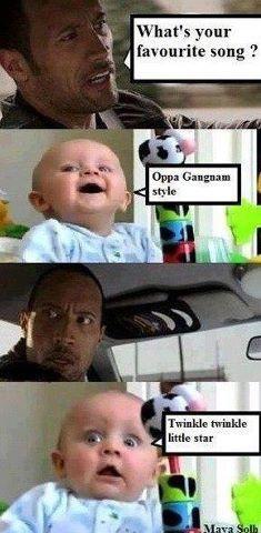 #TheRock #OppaGangnamStyle #Humor #Baby