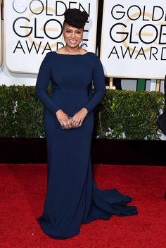 Ava DuVernay in Zac Posen at the 2015 Golden Globes