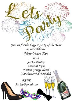 New Year's Eve Party Invitations. Ring in 2020 with a memorable party. New Years Eve Invitations, Party Invitations, Big Party, New Years Eve Party, Rsvp, How To Memorize Things, Let It Be