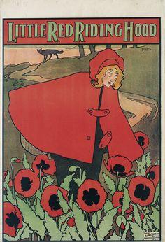 John Hassall, illustration for Little Red Riding Hood 1898. Belfast  | Museu Nacional d'Art de Catalunya