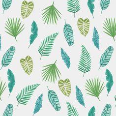 Patron de hojas de palmera