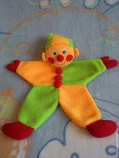 Купить Комфортер клоун Петрушка - разноцветный, комфортер, Игрушка для сна, дуду, клоун, петрушка