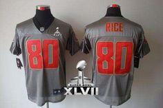 Nike 49ers #80 Jerry Rice Grey Shadow Super Bowl XLVII Men's Embroidered NFL Elite Jersey!$25.00USD Jersey Nike, 49ers Fans, Joe Montana, Nfl San Francisco, Nhl Jerseys, Nike Nfl, Sports, Jerry Rice, Sport