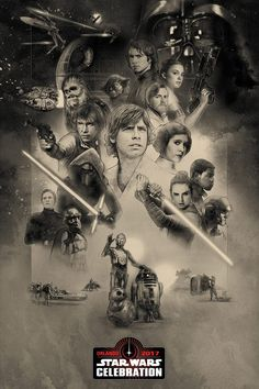 STAR WARS, Fantastic Beasts, Disney, Marvel, Agents of O.N.C.E., Poster of the Star Wars Celebration 2017