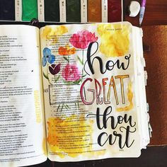 Psalm 145 Sometimes we need to just stop and only focus on how great He is. To not focus on our problems, mi. Bible Psalms, Faith Bible, Scripture Verses, Bible Art, Bible Study Journal, Journal Pages, Scripture Journal, Beautiful Words, Bible Drawing