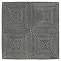 Op art, also known as optical art, is a style of visual art that makes use of op. - Op art, also known as optical art, is a style of visual art that makes use of optical illusions. Op Art, Optical Illusion Quilts, Optical Illusions, Motifs Blackwork, Arte Linear, Zentangle Patterns, Doodle Patterns, Carpet Design, Geometric Art