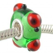 murano ladybug charm | fits pandora