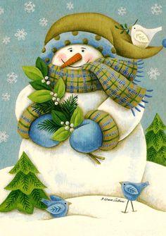 ❧ Illustrations Bonhommes de neige ❧