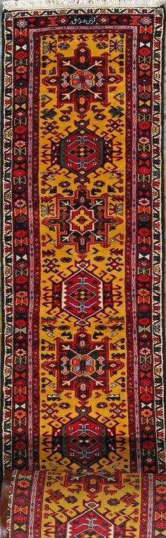 """Gharajeh Persian Rug, Buy Handmade Gharajeh Persian Rug 2' 9"""" x 36' 0"""", Authentic Persian Rug"""