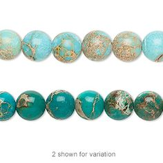 Bead, magnesite (dyed / stabilized), turquoise blue, 8mm hand-cut round, B grade, Mohs hardness 3-1/2 to 4. Sold per 16-inch strand.