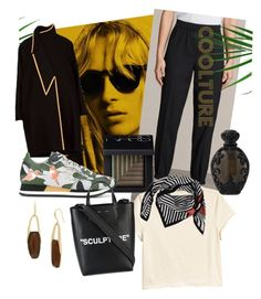 """Coolture"" by emmetu on Polyvore featuring AllSaints, NARS Cosmetics, Philippe Model, H&M, Bottega Veneta, Off-White, Robert Lee Morris and Kat Von D"