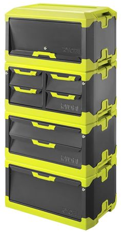 With Ryobi ToolBlox cabinets and tool boxes as large as they are, it's not going to be easy moving them around a garage or workspace, at least not without the roller base. Description from toolguyd.com. I searched for this on bing.com/images