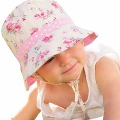Amazon.com  Millymook Girls Reversible Cotton Sun Hat Vintage Bucket -Pink 6cfe2797f95b