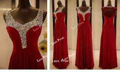 Sequins red dress 2014 Hot Selling Chiffon Lace Prom Dress Sexy Prom Dress Beaded Evening Dress Gorgeous Bridesmaid Dress