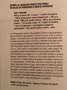 Ravioli al basilico e pinoli con salsa di pomodoro