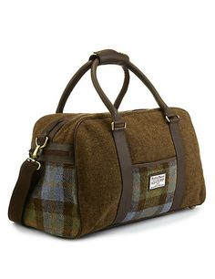 6d229f93624235 Buy the Pure Wool Harris Tweed Holdall from Marks and Spencer s range.