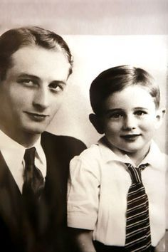 James Dean and his father.
