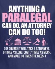 Which is why the bar exam is easier than the certified paralegal exam.