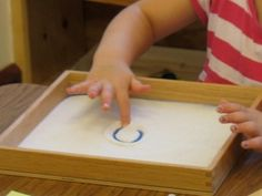 Writing in salt #preschool