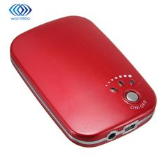 Red Black Hot Sale USB Charger Portable Mini Electric Hand Warmer Multifunctional Double-sided Rechargeable LED Light Heater