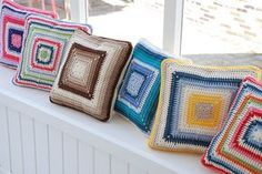Crochet Pillows | Flickr: Intercambio de fotos