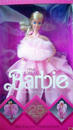 1987 Pink Jubilee 25 Years Barbie