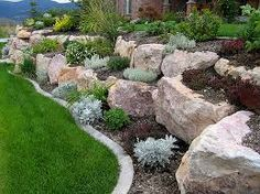 boulder retaining wall - Google Search
