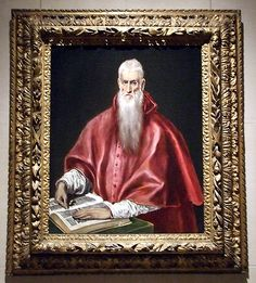 Saint Jerome as Cardinal by El Greco in the Metropolitan Museum of Art, January 2008, for more please visit http://painting-in-oil.com/artworks-El-Greco-page-1-delta-ALL.html