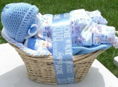 Deluxe boy napping baby baskettm in blue by 1cupcotton on etsy diaper baby basket such a cute idea for a baby shower gift negle Image collections