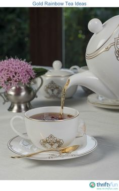 This guide is about gold rainbow tea ideas. A rainbow tea party is fun coordinating your color with the display, dishes and refreshments.